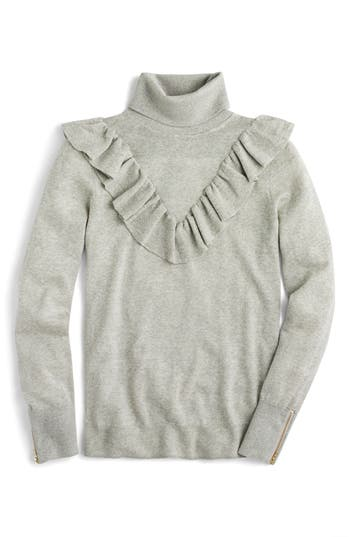 J.Crew Tippi Ruffle Turtleneck Sweater