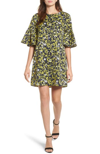 Halogen® Ruffle Sleeve Shift Dress