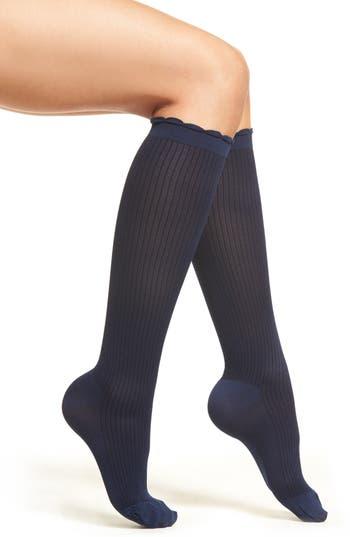 Nordstrom Ribbed Compression Trouser Socks