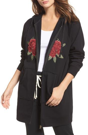 BRUNETTE the Label Brunette Embroidered Zip Hoodie