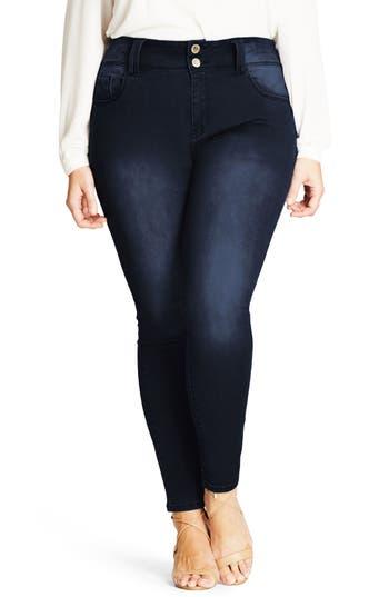 City Chic Asha Stretch Skinny Jeans (Plus Size)