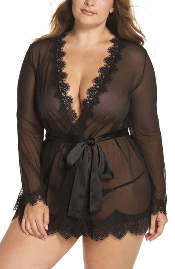 Oh La La Cheri Eyelash Curves Robe & G-String (Plus Size)