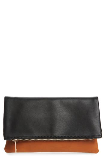 BP. Faux Leather Fold-Over..