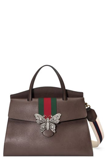 Gucci Large Linea Totem Leather Satchel