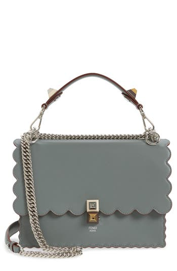 Fendi Kan I Scallop Leather Sh..