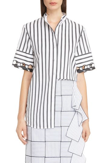 Laced Sleeve Shirt by Victoria, Victoria Beckham