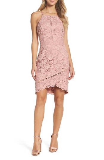 Adelyn Rae Lace Sheath Dress