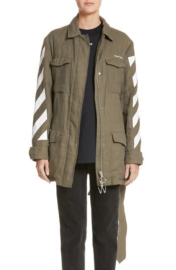 Off-White Diagonal Stripe Field Jacket