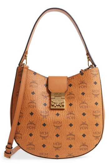 MCM Patricia Visetos Coated Canvas Hobo