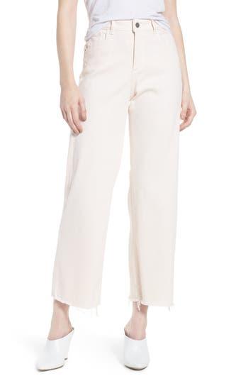 DL1961 Hepburn Ankle Wide Leg Jeans Blush Pink