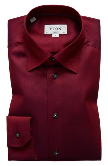Slim Fit Solid Dress Shirt by Eton