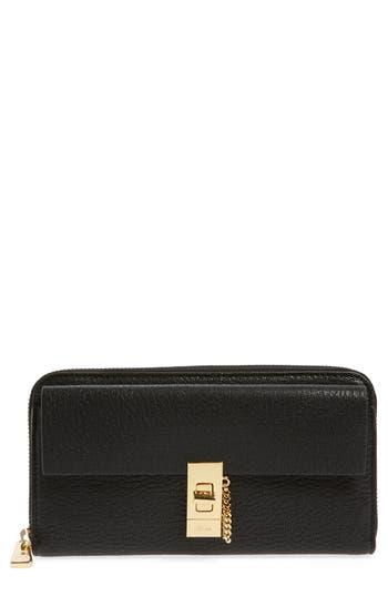 Chlo? 'Drew' Calfskin Leather Zip Around Wallet