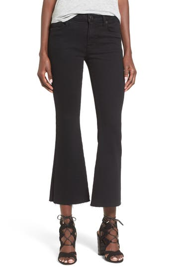 Hudson Jeans 'Mia' Raw Hem Crop Flare Jeans