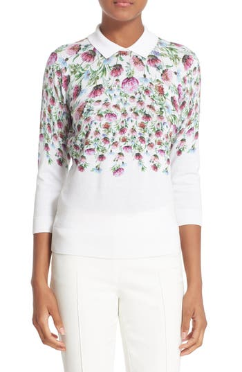 'karn' Thistle Print Cotton Sweater by Ted Baker London