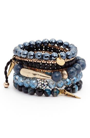 Erimish Set Of 5 Beaded Crystal Bracelets Nordstrom