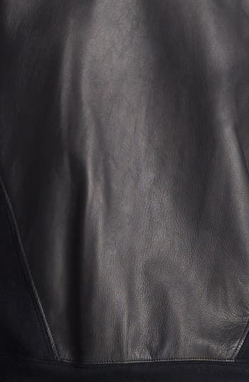 Alternate Image 4  - Helmut Lang Leather Sweatshirt