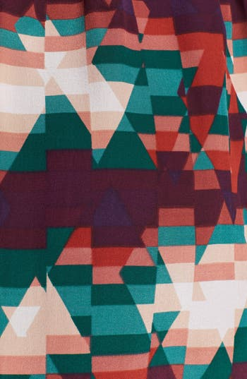 Alternate Image 3  - Line & Dot Print High/Low Silk Dress