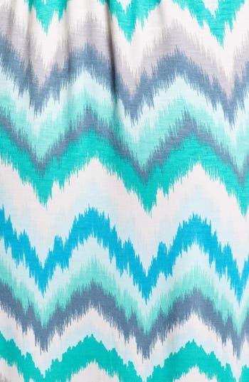 Alternate Image 3  - Loveappella Zigzag Stripe Maxi Dress (Petite)