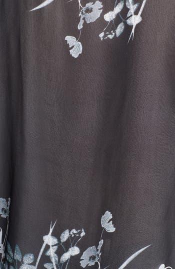 Alternate Image 3  - Citron Print Asymmetrical Silk Tunic (Plus Size)