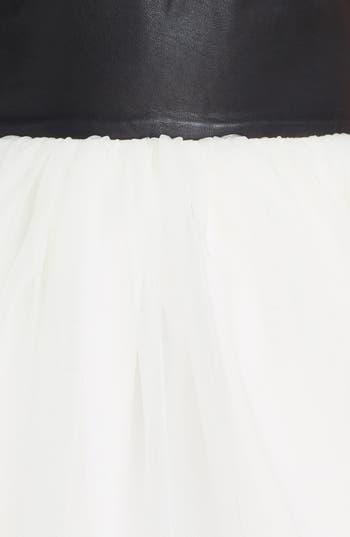 Alternate Image 3  - Alice + Olivia 'Ginnifer' Leather Bodice Party Dress