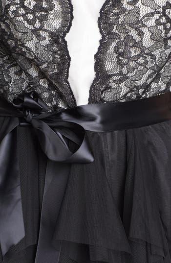 Alternate Image 3  - Secret Charm Lace Fit & Flare Dress (Juniors) (Online Only)