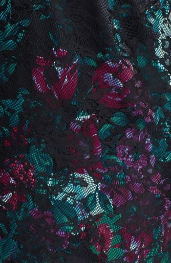 Alternate Image 3  - Donna Ricco Illusion Lace Print Sheath Dress