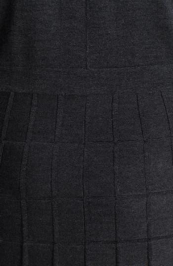Alternate Image 3  - Calvin Klein Fit & Flare Textured Sweater Dress (Plus Size)