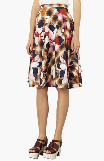 Main Image - Topshop 'Marigold' Midi Skater Skirt