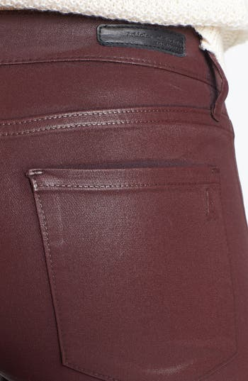 Alternate Image 3  - Articles of Society 'Mya' Coated Skinny Jeans (Ox Blood) (Online Only)