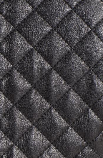 Alternate Image 3  - Cole Haan Collarless Quilted Leather Jacket