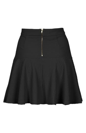 Alternate Image 2  - Topshop Textured Skater Skirt