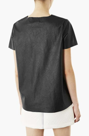 Alternate Image 2  - Topshop 'Paloma' Faux Leather Tee