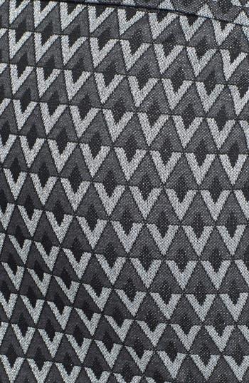 Alternate Image 3  - Lily White Metallic Textured Midi Pencil Skirt (Juniors) (Online Only)