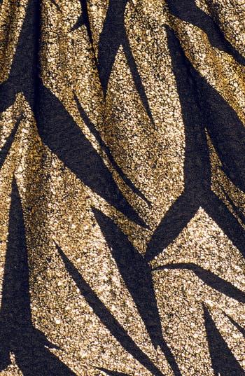 Alternate Image 3  - En Crème Metallic Pattern Cutout Skater Dress (Juniors)