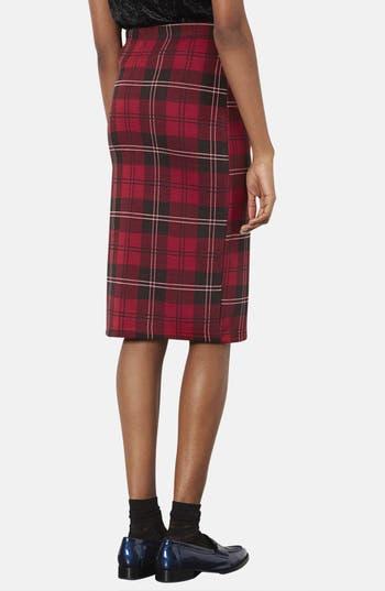Alternate Image 2  - Topshop Plaid Tube Skirt (Regular & Petite)