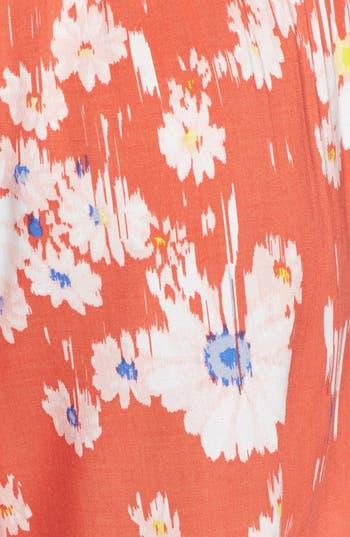 Tie Front Shorts,                             Alternate thumbnail 3, color,                             Orange