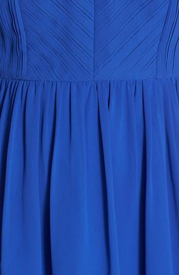 Alternate Image 3  - a. drea Pleat Bodice Cutout Skater Dress (Juniors)