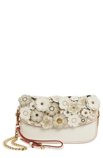 Coach 1941 Tea Rose Leather Clutch