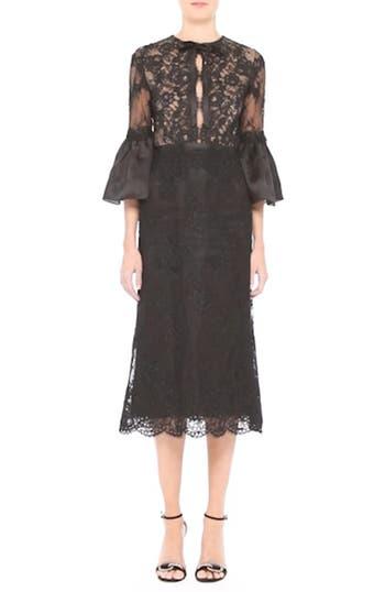 Bell Sleeve Lace Midi Dress, video thumbnail