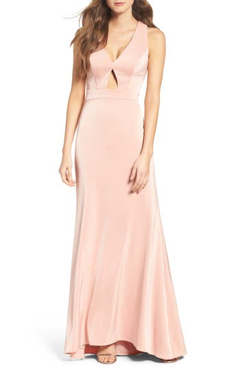 Xscape Cross Back Gown (Regular & Petite)