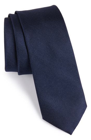 Oxford Solid Silk Skinny Tie by Nordstrom Men's Shop