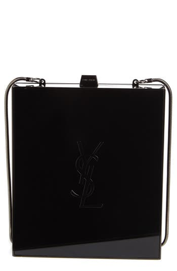Saint Laurent Tuxedo Plexiglass Clutch