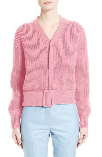 Victoria Beckham Belted Wool Sweater