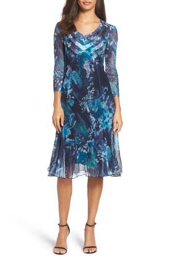 Komarov Chiffon A-Line Dress (..