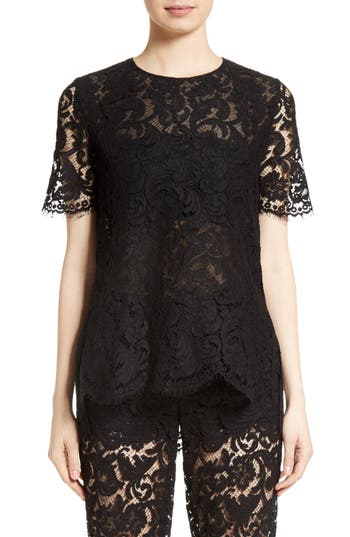 Adam Lippes Lace Tee