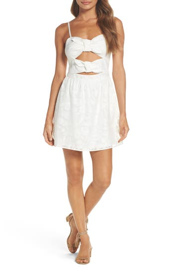 Ali & Jay Merry-Go-Round Cutout Minidress
