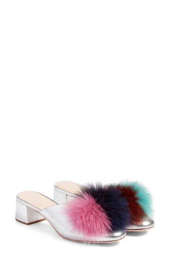 Loeffler Randall Lulu Genuine Fox Fur Mule (Women)