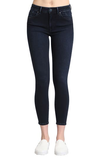 Mavi Jeans Tess Stretch Ankle Skinny Jeans (Ink Brushed Indigo Move)