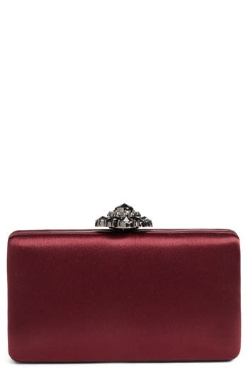 Nordstrom Crystal Flower Clasp Box Clutch