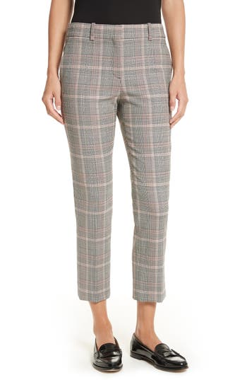Theory Treeca 2 Plaid Crop Trousers